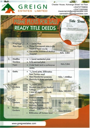 P135:Commercial plots for sale in Nyeri
